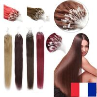 50, 100, 150 EXTENSIONS DE CHEVEUX POSE A FROID EASY LOOP NATURELS REMY 53CM AAA