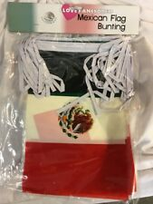 Mexican bunting 33ft flag decoration 20 flags 10 metres worldcup football