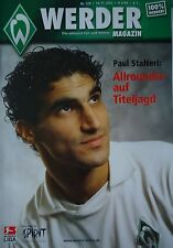 Programm UEFA Cup 2002/03 Werder Bremen - Vitesse Arnheim
