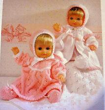 "#145 Doll, Prem Baby Girl, H12"" upto 22"" 5piece Layette DK Knitting Pattern"