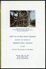 UNITED STATES MAY 29,1967 OFFICIAL POST OFFICE FD CEREMONY FOLDER 13c JFK STAMP