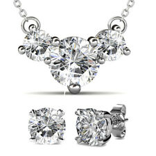 NECKLACE & EARRINGS SET FT CRYSTALS FROM SWAROVSKI KCTS428WG