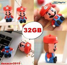PEN DRIVE PENDRIVE DE SUPER MARIO BROS 32GB 32 GB MEMORIA USB(4 8 16 64 LUIGI)