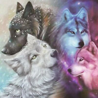 5D DIY Full Drill Diamond Painting Wolves Embroidery Mosaic Kit Home Decor