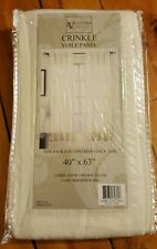 NEW Victoria Classics Ivory Crinkle Voile Panel Sheer Curtain 40x63 multiple avl
