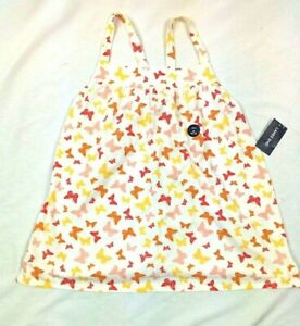 Lands 'End Light Ruffle Strap Butterfly Theme Tank Size M 10-12 Years, New