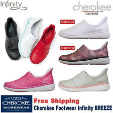 Cherokee Workwear INFINITY BREEZE Women's Slip on Athletic Leather Shoe