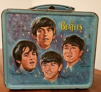 THE BEATLES Vintage 1965 Aladdin Metal Lunch Box. Great Christmas Gift!