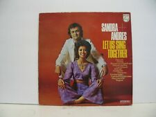 SANDRA ANDRES 33 RPM LET US SING TOGETHER PHILIPS STEREO 6413 012 IMPORT VG++