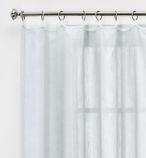 "Contrast Edge Solid Sheer Window Curtain Panel Threshold Gray/White 84"" x 54"""