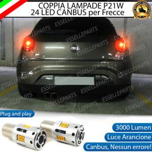 COPPIA LAMPADE P21W LED FIAT BRAVO MK2 CANBUS 3.0 24 LED FRECCE POSTERIORI