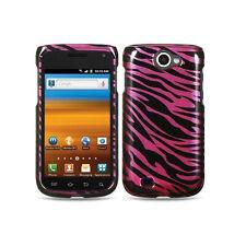 For Samsung Exhibit 2 II 4G T679 HARD Case Snap on Phone Cover Plum Zebra
