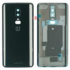 OnePlus 6 Gehäuse Back Cover Deckel Rückseite Kamera Linse Glas schwarz