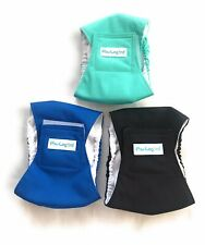 Paw Legend XS Washable Dog Belly Wrap Diapers Male Dog (3 Pack) Modern Set Black
