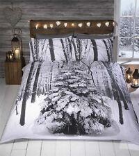 Rapport Winter Sparkle Christmas Tree 100 Cotton Double Duvet Cover Set