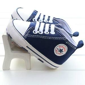 BABY PREWALKER SHOES TRAINERS BLUE  0-6 6-12 12-18 MONTHS CONVERSE