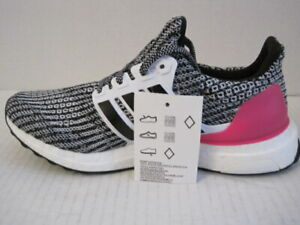 Adidas UltraBoost 4.0 Women's sz 7 Running Shoes Black/Pink/White B43508