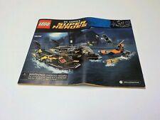 Lego Batman: Batboat Harbour Pursuit 76034 Instruction Manual only