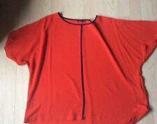 marks and spencers blouse red size 18