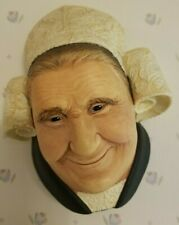 Vintage Rare Bossons Brettonne Lady Chalkware Head Made In England