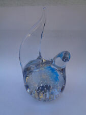VINTAGE ART GLASS BIRD PAPERWEIGHT FIGURINE