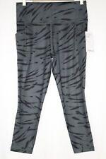 Athleta Womens Salutation Stash Pocket II Zebra 7/8 Tight Anthracite Grey 599541