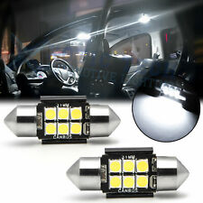 Canbus 31-mm LED Dome Map Interior Light Bulbs Trunk Cargo Lamps White DE3175