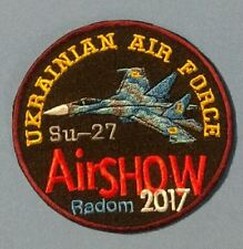 PATCH MILITARY UKRAINE - SU 27 AIR FORCE 2017 AIRSHOW RADOM - ORIGINAL!