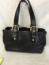 Vintage COACH BLACK LEATHER large soho F13109 Purse Shoulder Bag