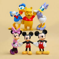 cute Mickey minnie pooh  anime figure figures Set of 6pcs doll Toy anime colle