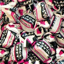 Black Jack Taffy Classic Retro Candy - 4 POUNDS - 150 Pieces Bulk Black White
