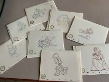 8 Wdcc Animation Drawing Fine Art Print Lot-Pooh Mickey Timon Tink Snow Jiminy +