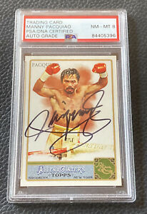 Manny Pacquiao Signed 2011 Topps Allen & Ginter Card #262 Autograph PSA 8 Auto