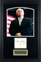Rush Limbaugh Signed Autographed Cut Signature - Framed with 8x10 Photo PSA