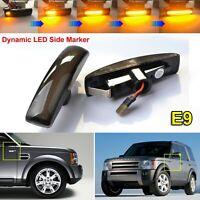 Dynamic LED Side Marker Indicators Light For Land Rover Discovery 3 Freelander