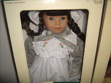 "Heidi Ott 19"" Doll HANNAH Faithful Friends NEW in BOX NRFB White Smock"