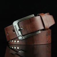 Classic Men's Leather Belt Casual Pin Buckle Waist Belt Waistband Belts Strap