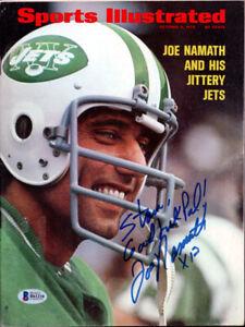 "Joe Namath Autographed Signed Sports Illustrated Jets ""To Stan"" Beckett B61210"