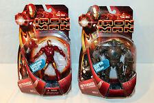 """Iron Man 6"""" Movie Figure MOC Lot of 2 Monger Hasbro Tony Stark 2008 Mark 3"""
