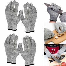 2 Pairs Cut Resistant Gloves Food Grade Level 5 Protection Safety Kitchen Cuts