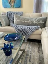 Chunky Knit Blanket, Homemade blanket, Chenille throw blanket, Homemade decor, c