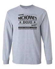 251 Michonnes Katana Training Long Sleeve Shirt zombie tv show walking vintage