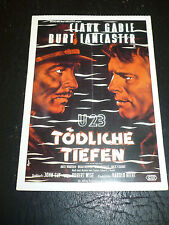 RUN SILENT RUN DEEP, film card [Clark Gable, Burt Lancaster, Jack Warden]
