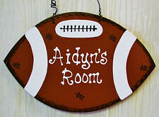 Personalize Name FOOTBALL Room Door SIGN Sports Boys Decor Hanger Wall Plaque