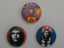 CHE GUEVARA bunch of x 3 - BUTTON BADGES (3) official merchandise