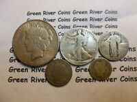 5 Liberty Type Coin Collection Old U.S. Coin 90% Silver US Coins #T5S-1PW