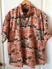North River Outfitters Fish and Gear Shirt Salmon Fly Fishing Sz XXL   #12B81