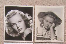 JUNE HAVER ORIGINAL 1950's SET OF 2BW PHOTO STILLS FAIR-EX