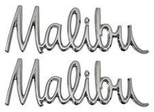 "1968 Chevelle Malibu Front Fender Script ""Malibu"" Emblem Pair"