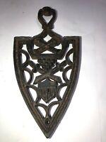 Vintage Antique Cast Iron Trivet Pot Holder Country Decor - Iron Shape